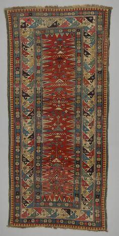 rug Kuba area or Shirvan district  DATE:1850 - 1860 DIMENSIONS:L 240 cm x W 117 cm