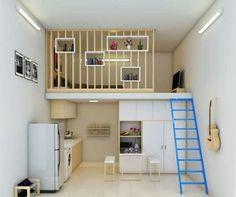 62 Impressive Tiny House Design Ideas That Maximize Function and Style 62 Impressive Tiny House Design Ideas That Maximize Function and Style Tiny Loft, Tiny House Loft, Tiny House Living, Tiny House Design, Small Living, Living Room, Tiny Spaces, Small Apartments, Deco Studio