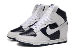 Image for Nike Wedge Sneakers Black And White For Women Pictures To Pin On