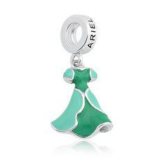 Pingente Prata Vestido Ariel - Princesas Life Moments
