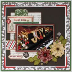 JOY - Scrapbook.com - Beautiful holiday layout! Don't forget to scrap your decor!