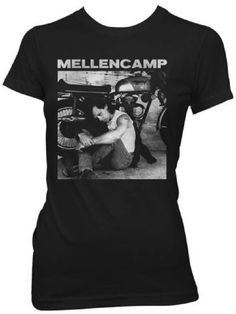 acca9a1f Our John Mellencamp women's vintage tshirt displays a classic black &  white photograph of the