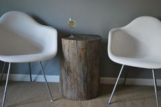 DIY side table made from scrap wood.