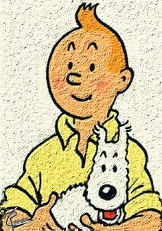 Tintin à la Van Gogh © Laurent Roman #tintin #art