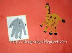 July-Handprint-elephant-handprint-giraffe