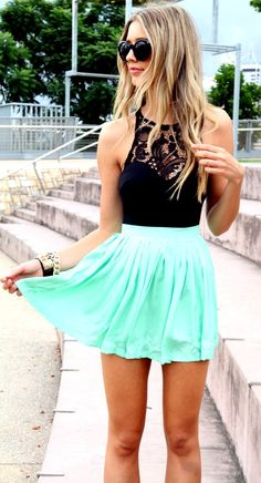 Love the color of the skirt