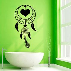 Stair Stickers, Wall Stickers Home Decor, Wall Painting Decor, Wall Art Decor, Room Decor, Dream Catcher Art, Painting Templates, Wall Drawing, Vinyl Wall Art