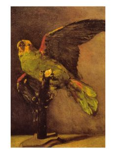"artist-vangogh: ""The Green Parrot, Vincent van Gogh Medium: oil,canvas"" Vincent Van Gogh, Artist Van Gogh, Van Gogh Art, Georges Seurat, Art Van, Rembrandt, Claude Monet, The Green Parrot, Henri De Toulouse-lautrec"