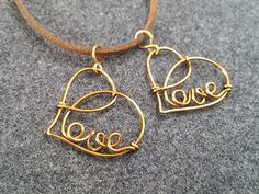 Love heart pendant - How to make wire jewelery 211 - YouTube