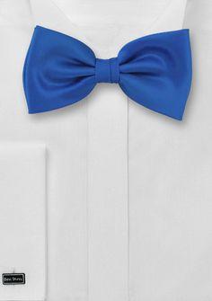 Herrenfliege Kunstfaser königsblau