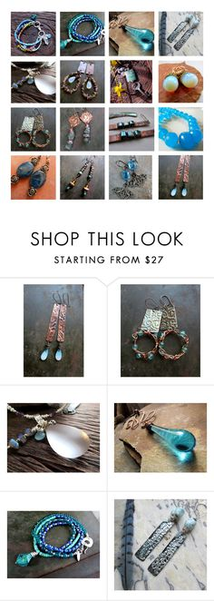 """""""ChiliroseCreative - Jewelry in Aqua and Teal"""" by chilirose-creative ❤ liked on Polyvore featuring Color Me"""