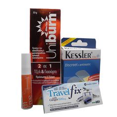 κουτι-πρωτων-βοηθειων-a-pharmacy-ταξιδι-εκδρομη First Aid Kit, Survival First Aid Kit, Diy First Aid Kit, Treat Box