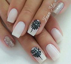 Hair And Nails, My Nails, Hairstyles With Bangs, Pedi, You Nailed It, Nail Art Designs, Hair Beauty, Polish, How To Make