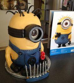Minion Birthday Surprise Cake