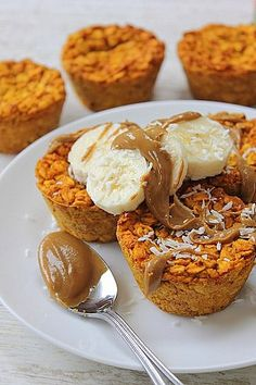 Mini baked pumpkin oats