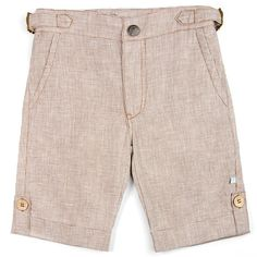 Fore!! Axel & Hudson Brown Linen Houndstooth Shorts: Designer Kids Clothes | Shop our Boutique for Cool Children's Clothing