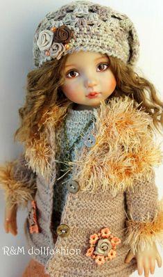 Vintage Dolls, Dress Making, Winter Hats, Crochet Hats, Cute, How To Make, Dresses, Fashion, Baby Dolls