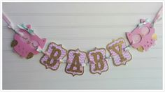 Owl Baby Shower Banner It's A Girl banner Baby by SweetBugABoo