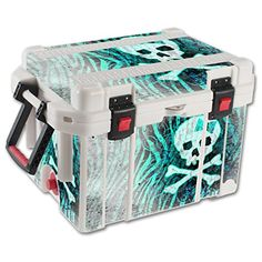 MightySkins Protective Vinyl Skin Decal for Pelican 45 qt Cooler wrap cover sticker skins Zebra Skull -- Read more reviews of the product by visiting the link on the image.(This is an Amazon affiliate link)