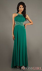 Buy Floor Length High Neck Dress at PromGirl