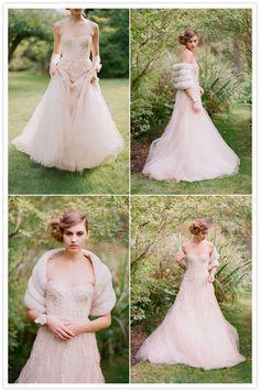Monique Lhuillier - blush gown!