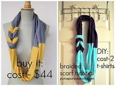 """"""" """" Here's a tutorial to make your own scarf! """" Truebluemeandyou: easy tutorial, really short video to show you how to do the braiding part. """""""