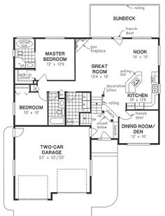 Craftsman Traditional House Plan 98876 Level One