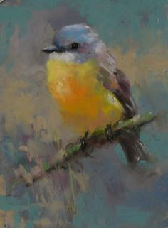 Daily Pastel Painting: Yellow Robin