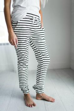 Striped Pants - cute loungers