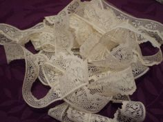 Soft Cream Flat Lace Border 4 Yards  1 inch by Wearehomecrafting, $7.00