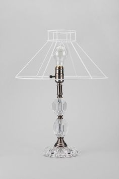 Cut Glass Wire Lamp  #UrbanOutfitters