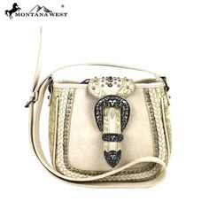 Montana West Buckle Collection Messenger Handbag (MW220-8287)