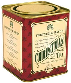 Fortnum & Mason, Tea, Pack, Tin, Christmas, Design, Vintage