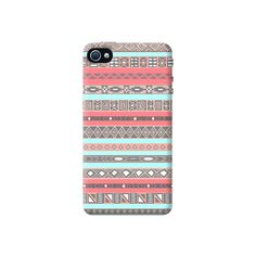 Baby Blue Aztec Apple iPhone 4/4S Case from Cyankart