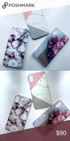 Chic Iphone X cases! Beautiful and vibrant phone cases for the iphone 10! $30 per case! Accessories Phone Cases