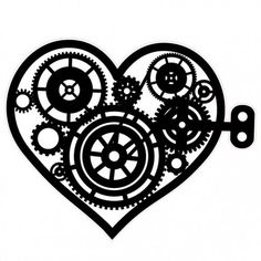 Steampunk Heart Hot Air Balloon with Wings Stamp Steampunk Couture, Steampunk Design, Steampunk Fashion, Steampunk Heart, Steampunk Necklace, Balloon Tattoo, Steampunk Gadgets, Steam Punk Jewelry, Heart Tattoo Designs