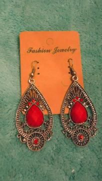 stylish red earrings Free Shipping