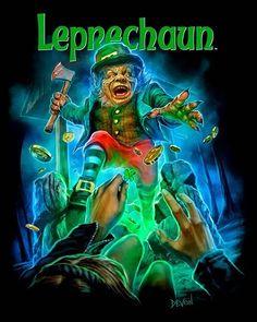 1980s Horror Movies, Horror Movie Characters, Classic Horror Movies, Scary Movies, Horror Posters, Horror Icons, Horror Comics, Horror Art, Leprechaun Movie