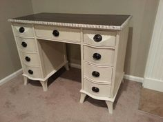 1946 desk refinished in old white.
