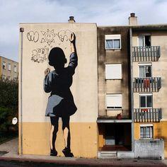 """Massive piece by Adres in Portugal  #adres #portugal #mural  #blackappleart #urbanart #sprayart #streetart #art"""