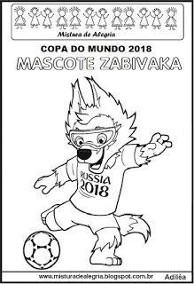 Mascote Zabivaka Copa Mundial 2018 Copa Do Mundo Atividades