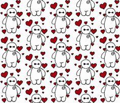 Ba-la-la Love fabric by daeshii on Spoonflower - custom fabric