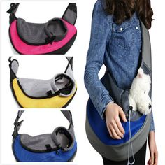 Dog Puppy Carrier Travel Backpack Front Net Shoulder Bag