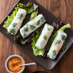 Restaurant spring rolls often feature gummy noodles, soggy rice paper, and saccharine peanut dipping sauce. We set out to produce light, fresh, and easy-to-make spring rolls.