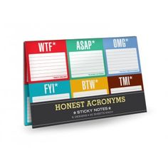 Knock Knock Honest Acronyms Sticky Notes - Knock Knock from Mollie & Fred UK