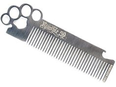 Rumble 59 Stainless Brass Knuckles Hair Comb by Schmiere