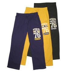 Jones and Mitchell purple, gold, or charcoal sweatpants. $39.99