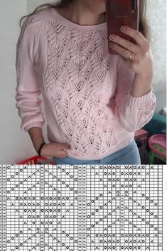 Just two rows for this pretty … – Knitting trends Lace Knitting Stitches, Lace Knitting Patterns, Knitting Charts, Lace Patterns, Knitting Designs, Baby Knitting, Free Knitting, Knit Crochet, Winter Outfits