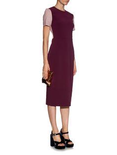 Marwood contrast-sleeve midi dress | Roksanda | MATCHESFASHION.COM UK Midi Dress With Sleeves, Roksanda, Colorblock Dress, Workwear, Contrast, Stuff To Buy, Dresses, Fashion, Vestidos