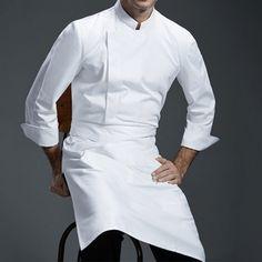 White Gray Black Long Sleeve Shirt - Little Tailor Studio Black Long Sleeve Shirt, Long Sleeve Shirts, Restaurant Uniforms, Apron Designs, Uniform Design, Work Wear, Chef Jackets, Cute Outfits, Bakery Cafe